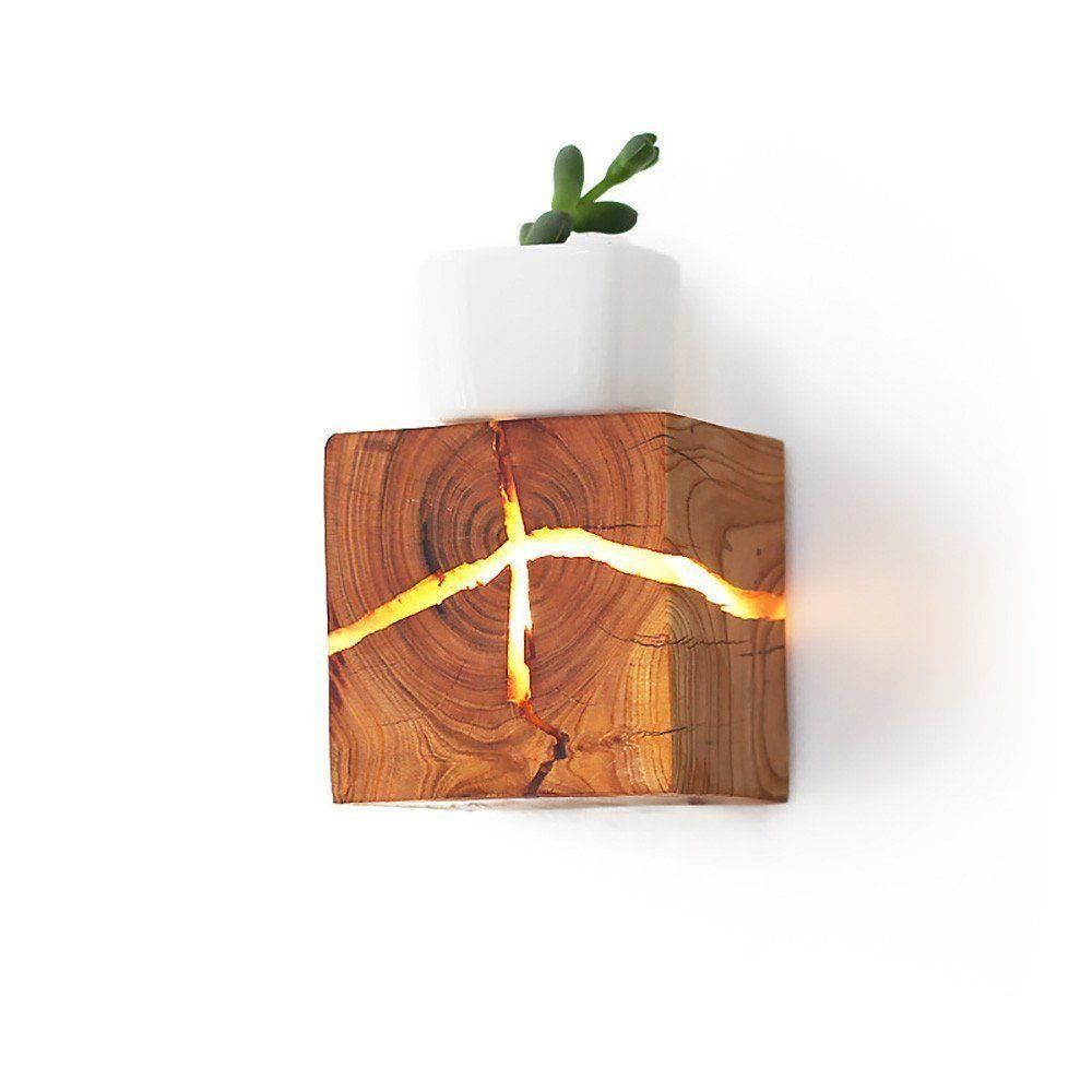 tolle Wandleuchten aus Holz. Handgemachte Unikate. #lamp