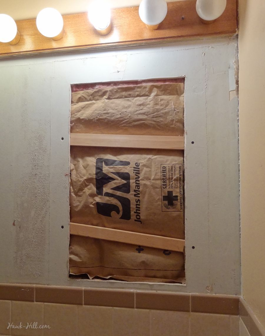 diy drywall repair where large medicine cabinet was removed from rh pinterest com
