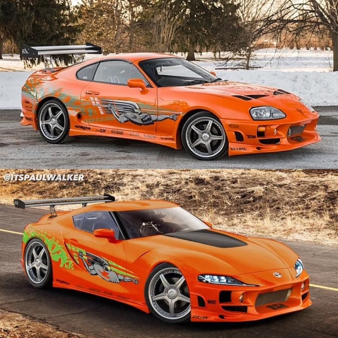 TOYOTA SUPRA RACE WARS  SIZES -WHITE FAST AND FURIOUS SHIRT PAUL WALKER