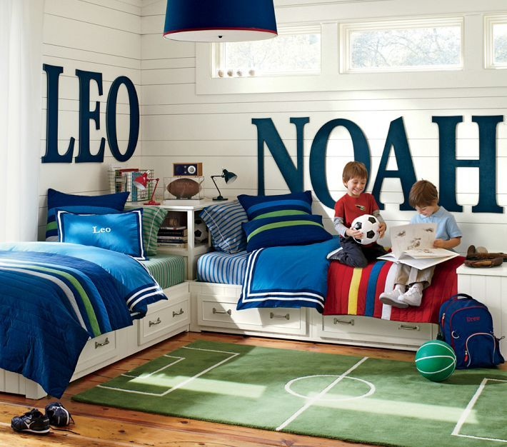 Soccer themed room large letters child and room for Great ideas for small bedrooms
