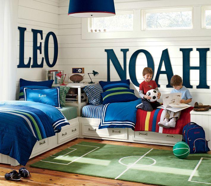 Soccer Themed Room Kids Shared Bedroom Kids Room Design Kid