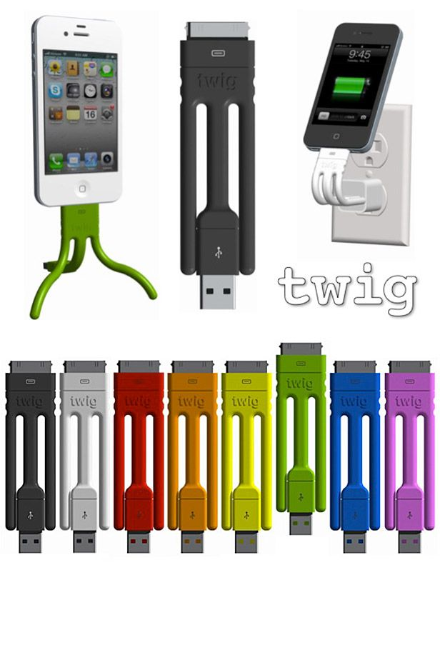 Twig is an ultra-portable cable for your iPhone. It has a bendable wire
