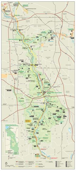 Cuyahoga Valley NP Maps   Park Map Small version   Places to ...
