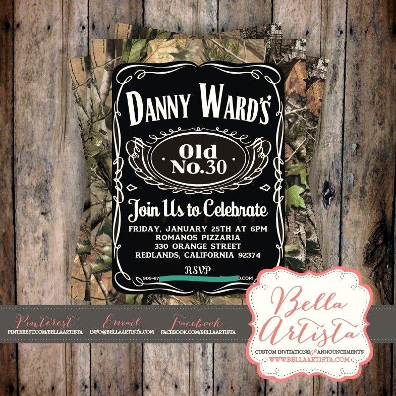 Realtree u0026 Jack Daniels Inspired Invitation for