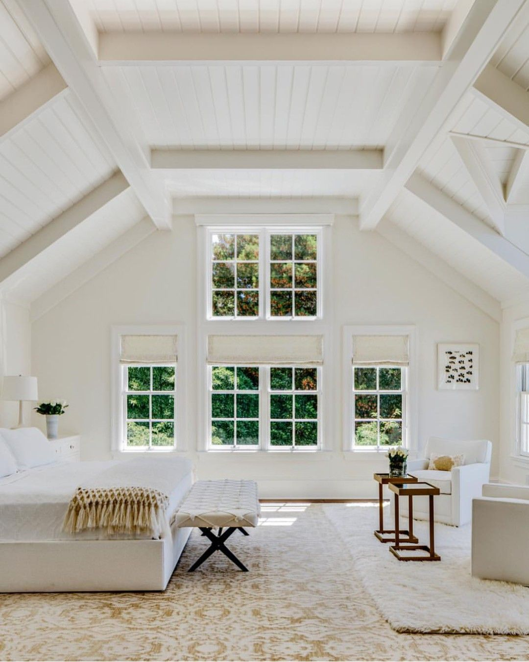 Beautiful Open Space Bedroom House All White Bedroom Home