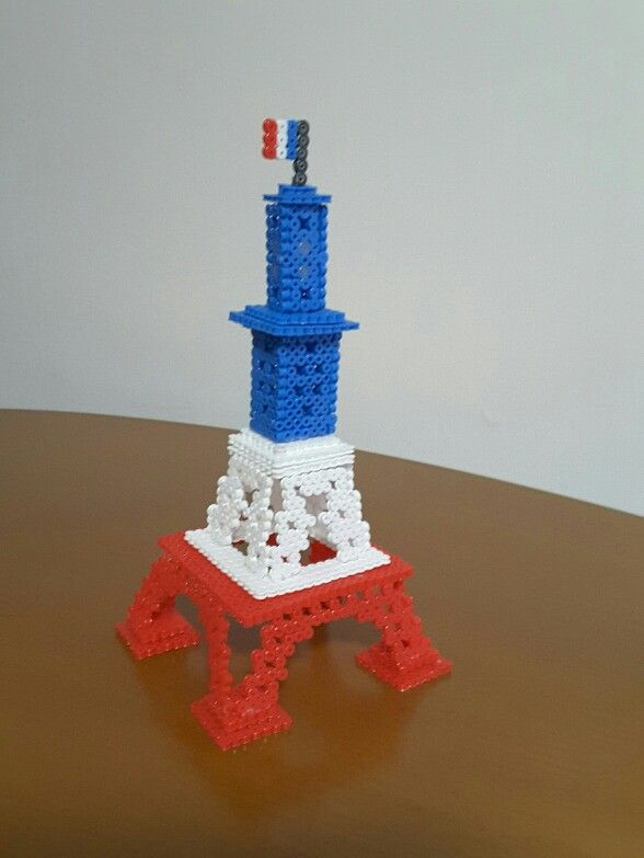 3d Eiffel Tower Hama Beads By Monica Bencivelli