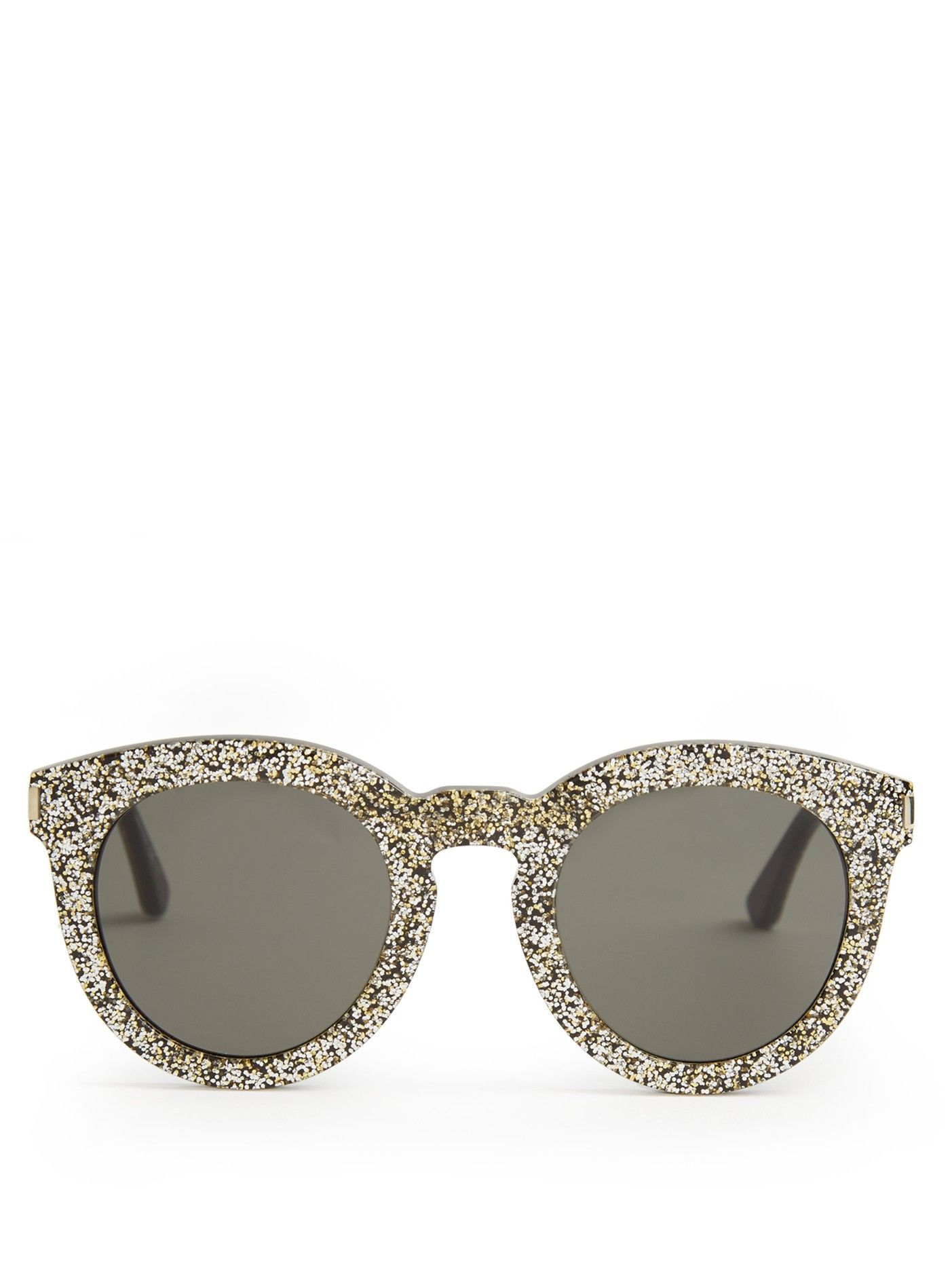 dec57b26736d Round-frame glitter sunglasses | Saint Laurent | frame designs ...