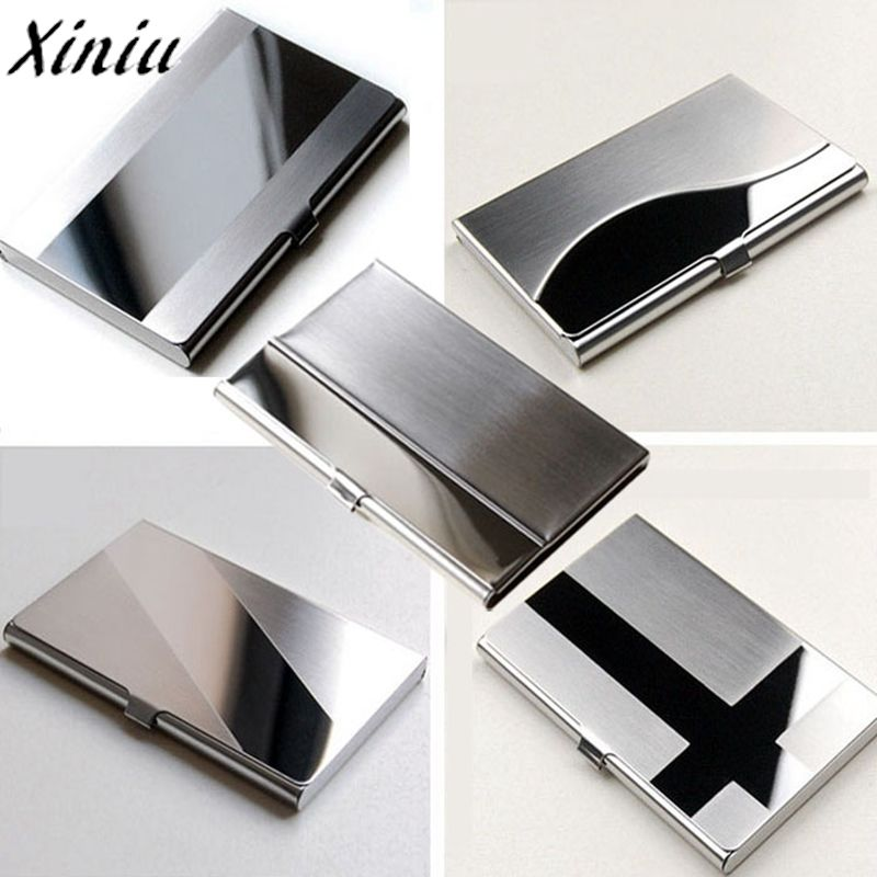 Aliexpress.com : Buy Card Holder Stainless Steel Silver Aluminium ...