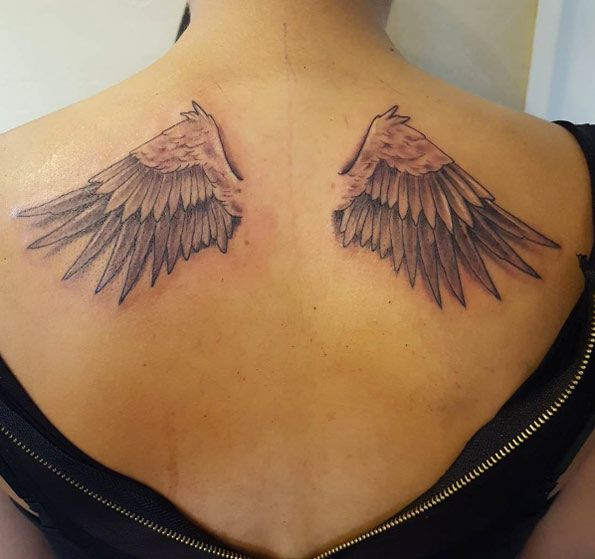 Ace Wing Tattoo Designs Cross And Wing Tattoo Designs Wings Tattoo Back Tattoo Wing Tattoo Men