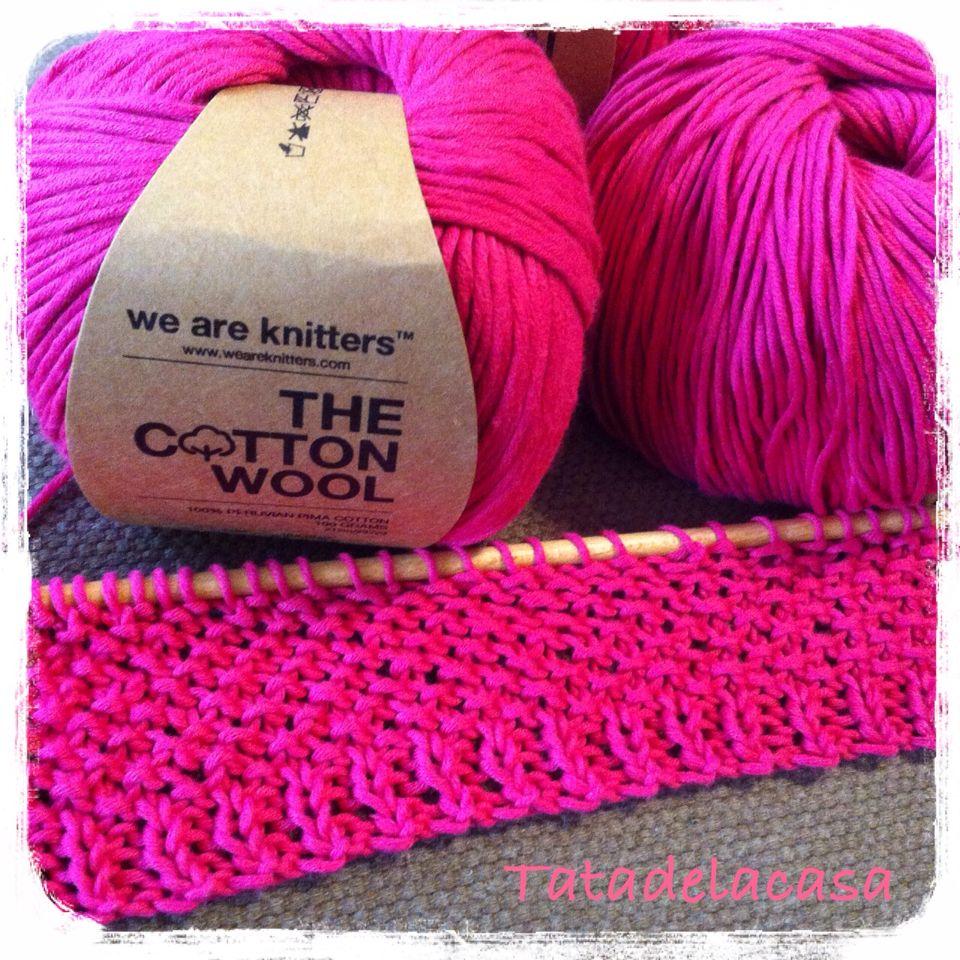 Jersey Juliet Tee en proceso. Lana We are knitters
