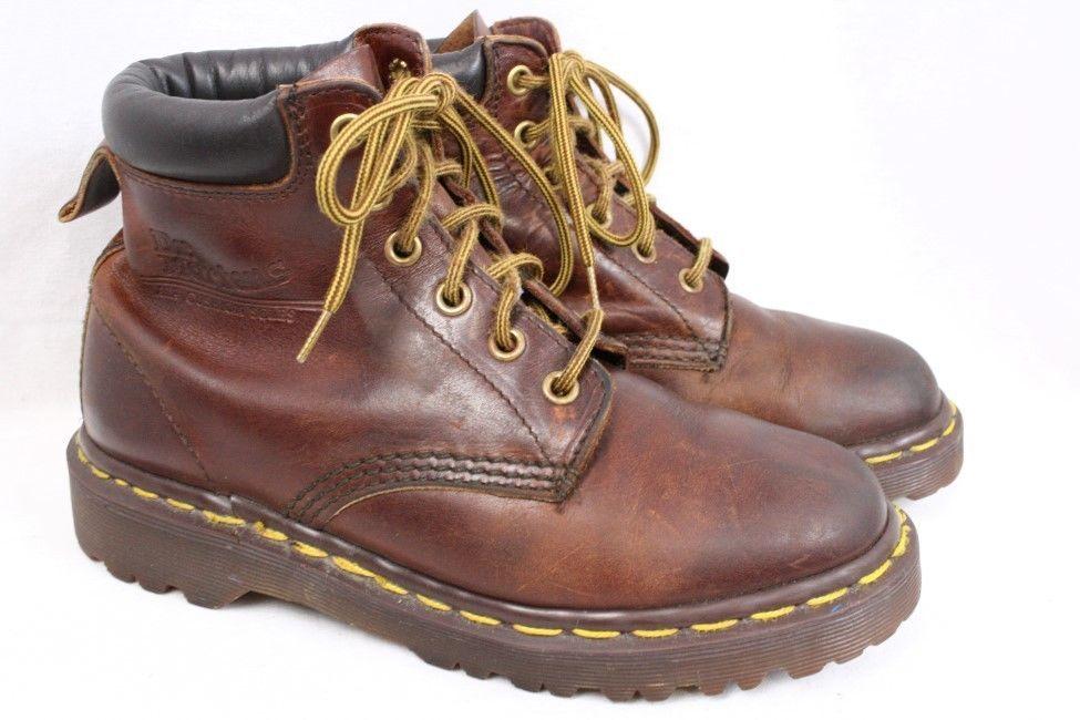 52c1b8ba63e DOC DR MARTENS Saxon 939 6 eye Vintage Brown Leather Collar Boot ...