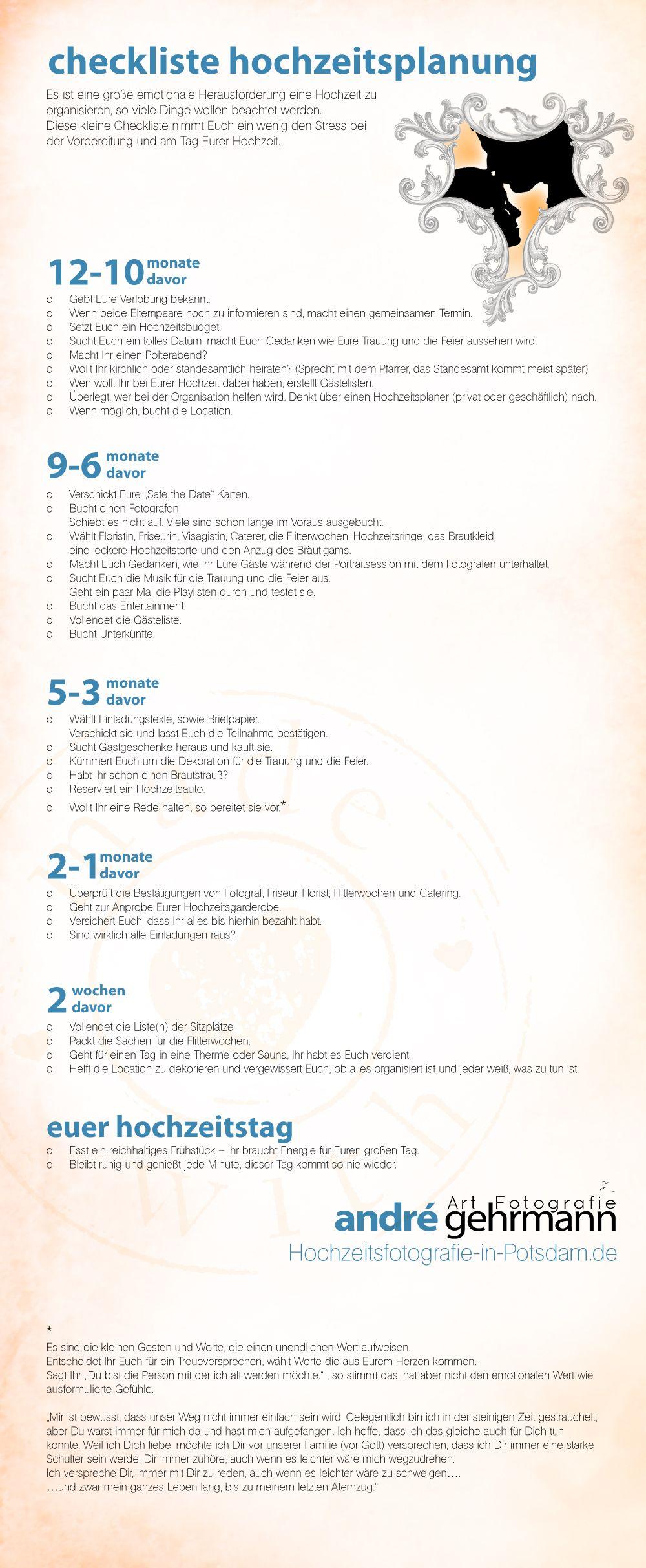 checkliste hochzeit 12 monate davor es ist eine gro e emotionale herausforderung eine hochzeit. Black Bedroom Furniture Sets. Home Design Ideas