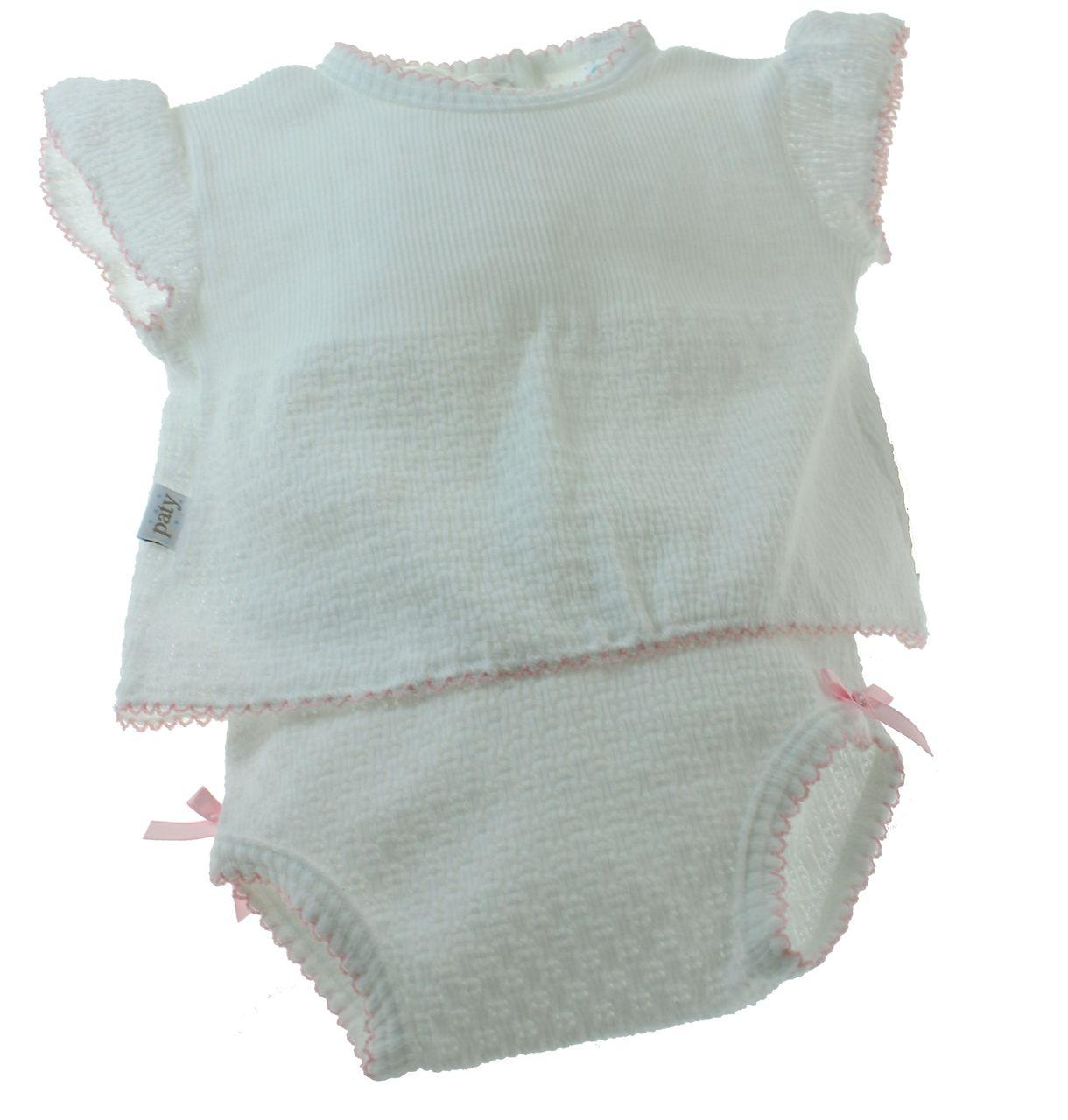 Baby Girls Pointelle Knitted Romper BNWT