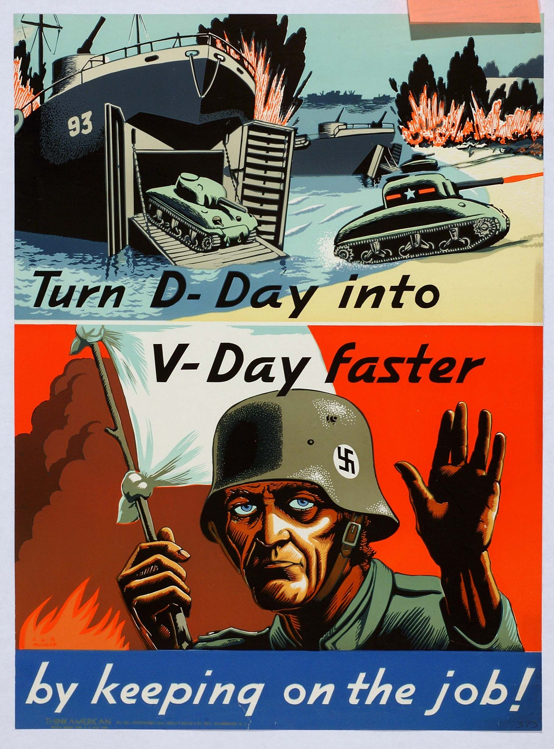 D Day June 6 1944 Us Miller Cxr C 1944 Wwii Posters Wwii Propaganda Posters Propaganda Posters