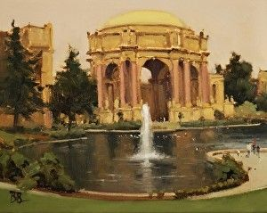 Grand View of the Palace of Fine Arts by Brian Blood - Oil