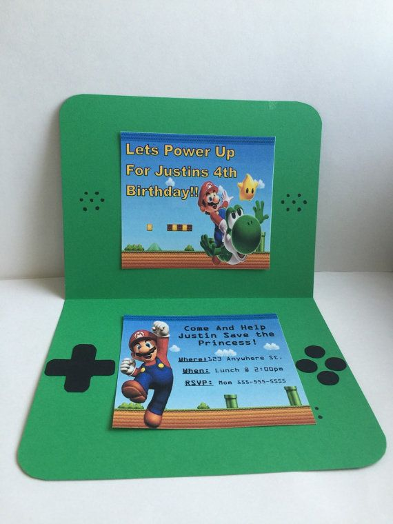 Super Mario Invitation By Partycreationsgalore On Etsy More