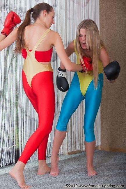 spandex Woman wrestling