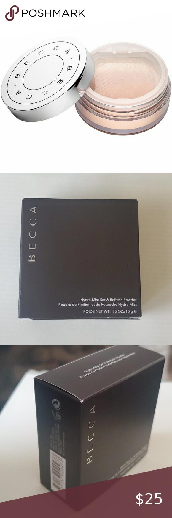 Becca Hydra Mist Set Refresh Powder In 2020 Setting Powder