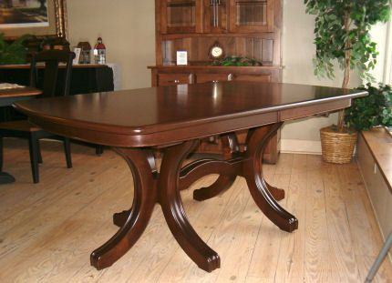 Monterey 68 Double Pedestal Table With 2 Self Storing Leaves