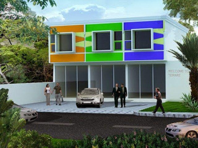 Desain Ruko Minimalis 2 Lantai Yang Elegan Home House Design