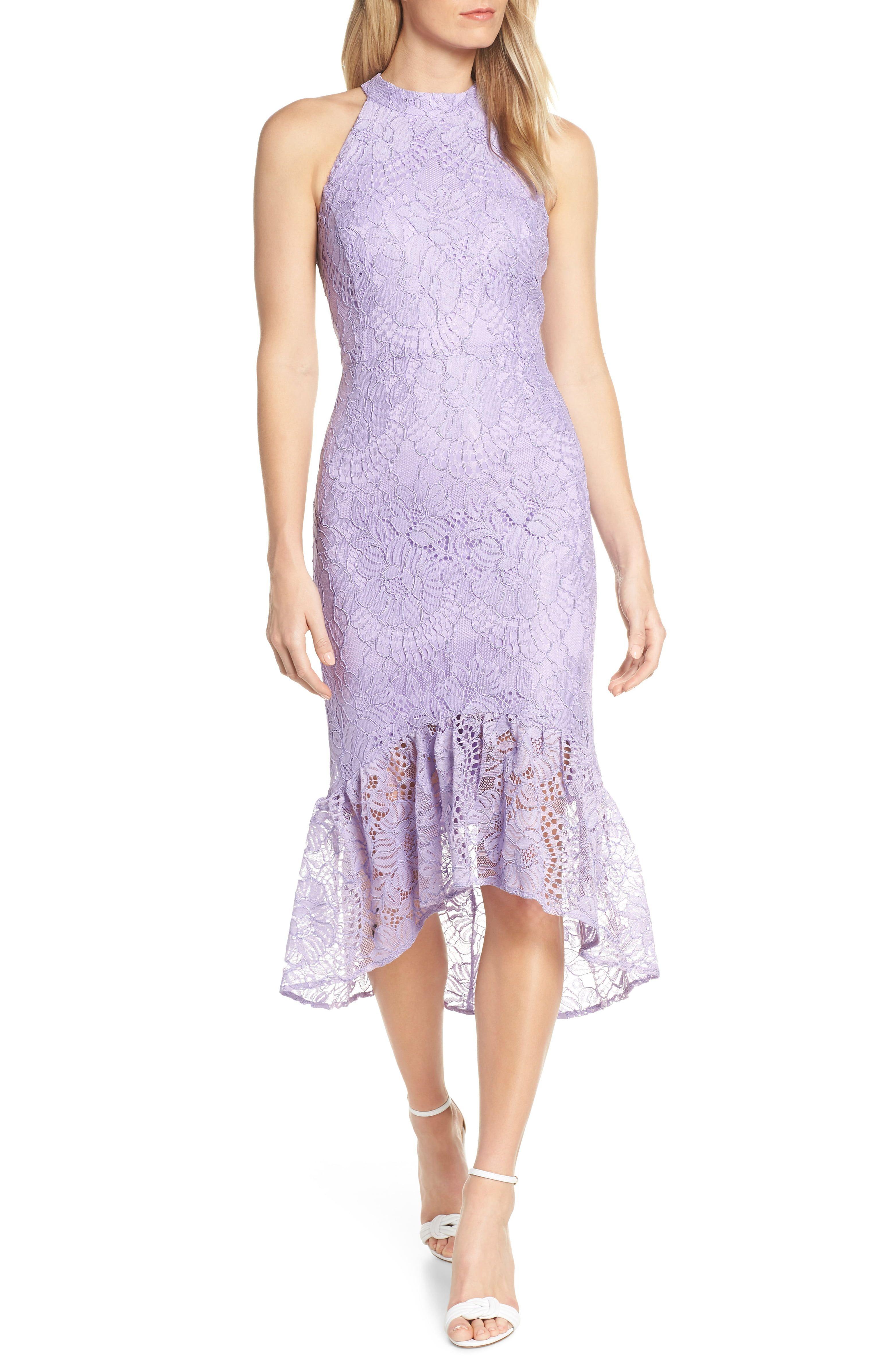 Lavender lace cocktail dress spring wedding guest dresses