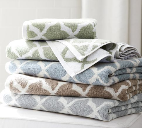 Marlo Organic Jacquard Towels Towel Grey Hand Towels Bath Towels