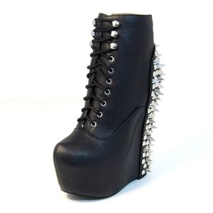 Jeffrey Campbell Damsel Spike Black Silver Me Too