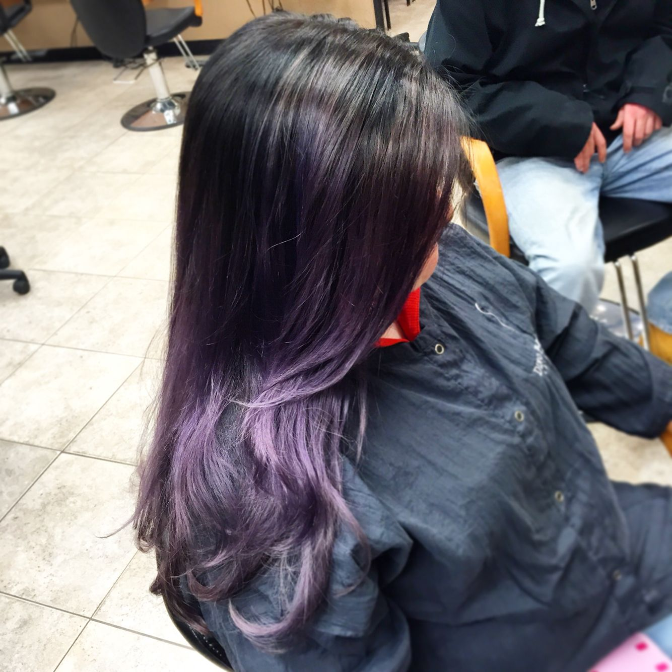 Fun little purple to eventually turn into silver. Book your appointment today!! 216 765 1400