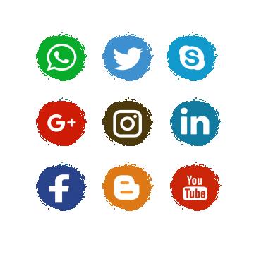 사회 미디어 아이콘, 사회 미디어 아이콘, 페이스북 Wattsapp, Instagrame PNG 및 벡터