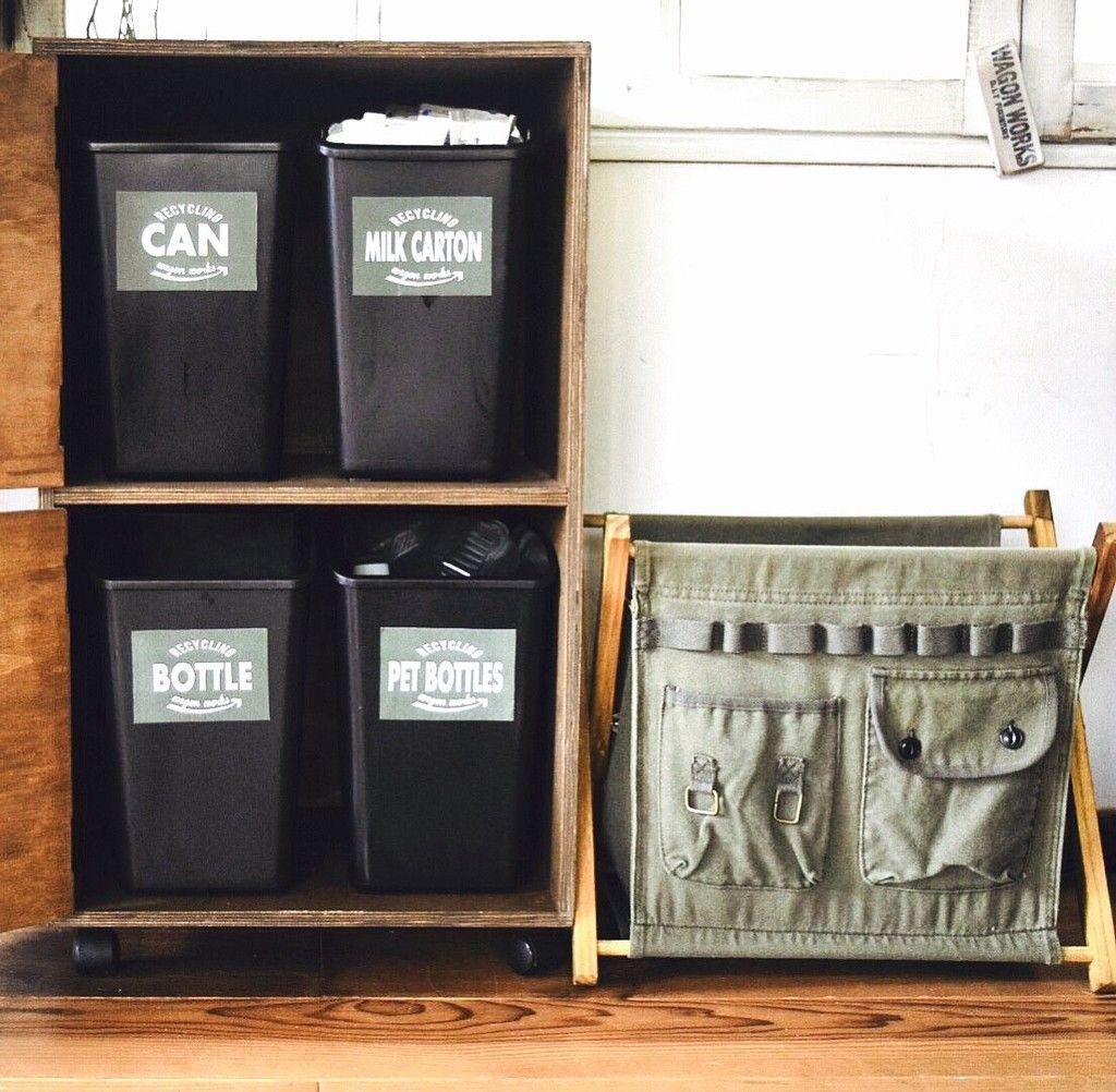 100均diy キッチンがスッキリ片付く分別リサイクルゴミ箱を作ろう ゴミ箱 シンプル 100均 ゴミ箱
