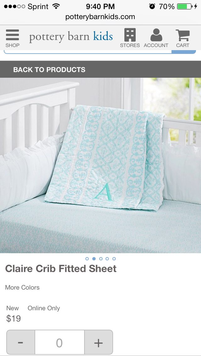 Pottery Barn Sheet They Have Aqua With Images Fitted