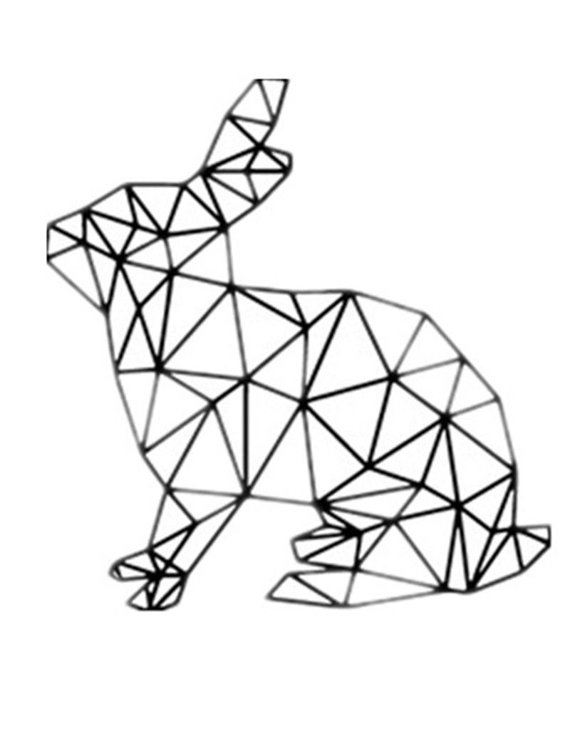 Image result for geometric animal painting black and white