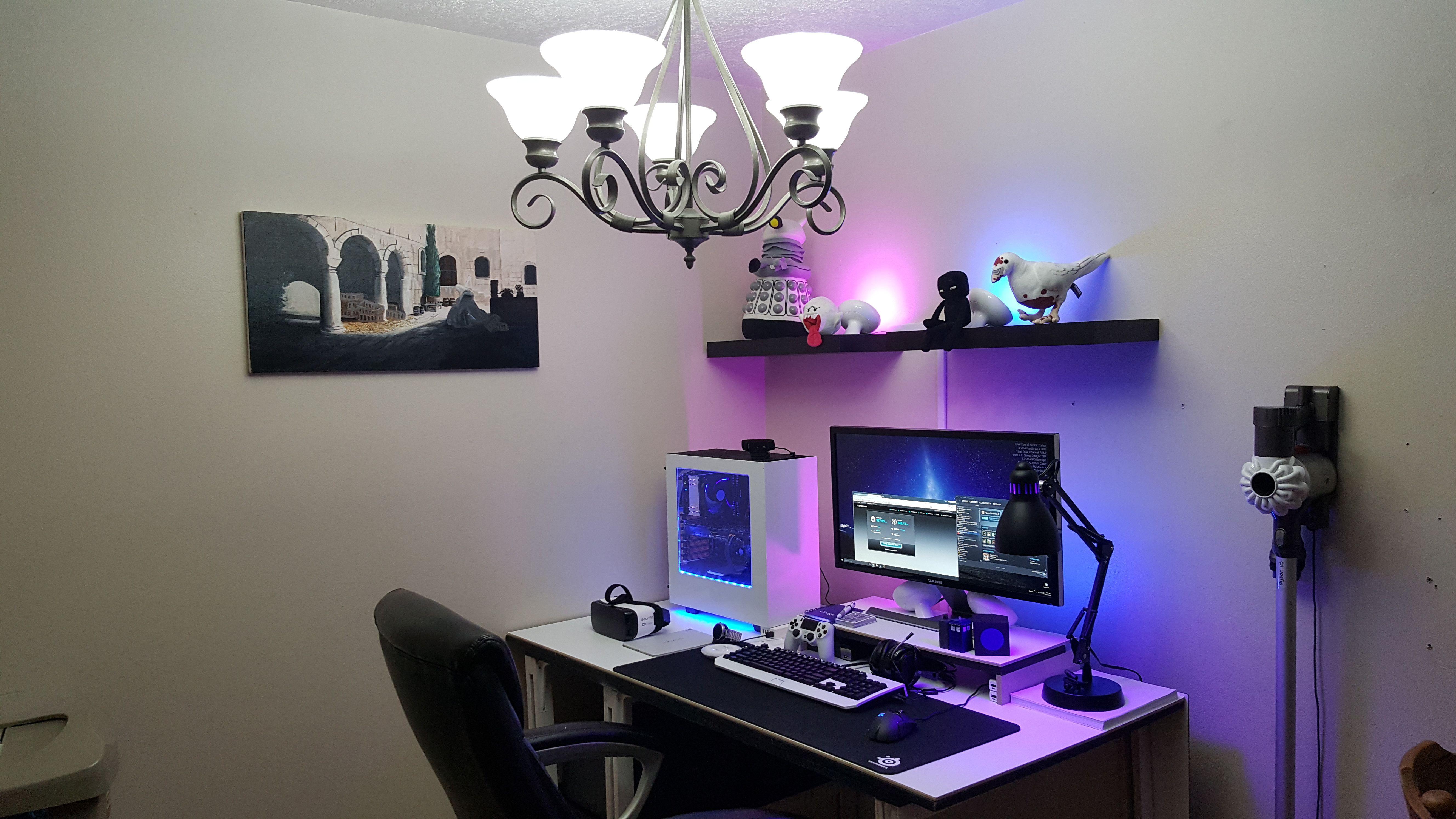 Philips Hue Lit Battlestation My Bedroom Gaming Setup Bedroom Room
