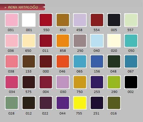Cadence Cam Boyasi Opak Renk Katalogu Renkler Boya Renkleri