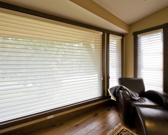 Beige Exquisite Contemporary Blinds For Large Windows With Modern ...