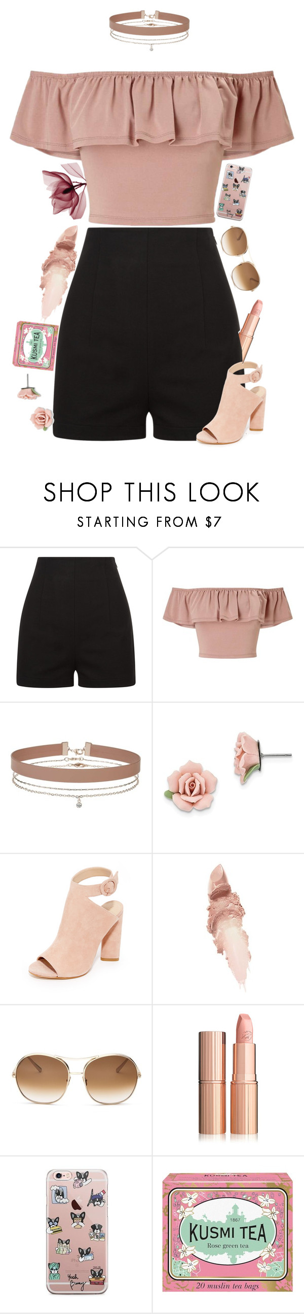 """""""Untitled #589"""" by nblankenship ❤ liked on Polyvore featuring Miss Selfridge, 1928, Kendall + Kylie, Maybelline, Chloé and Kusmi Tea"""