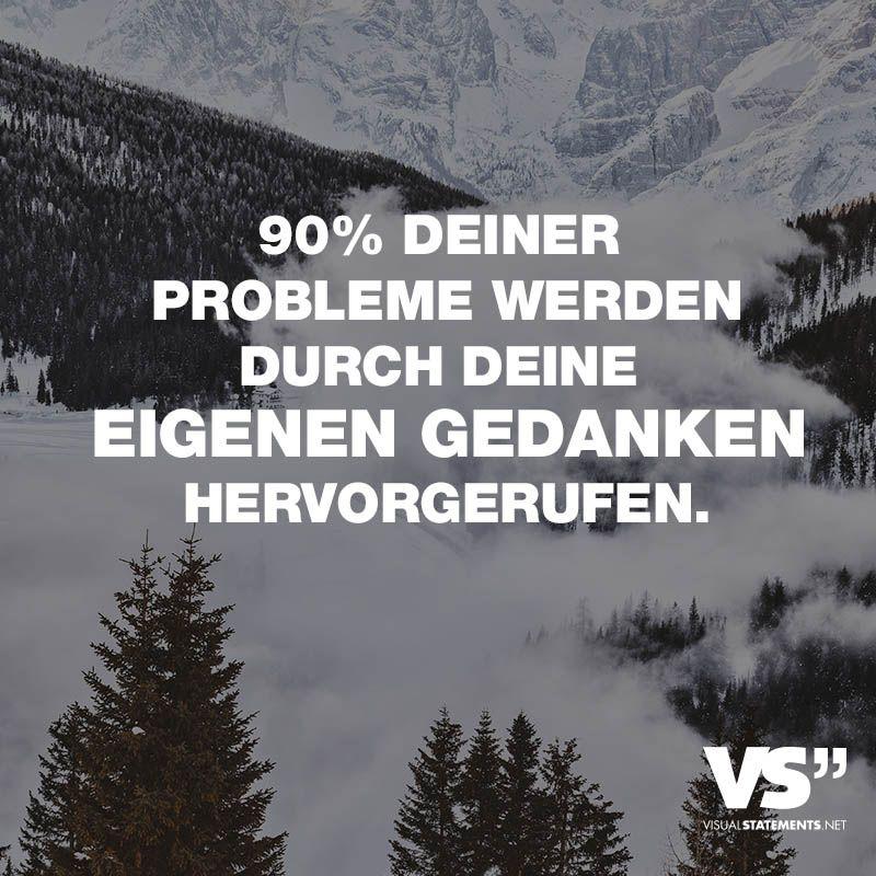 Photo of 90% deiner Probleme werden durch deine eigenen Gedanken herv…