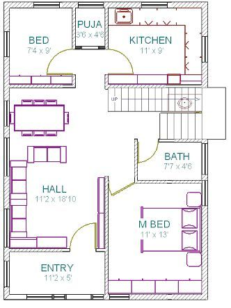 House Small Plans Stairs 16 Super Ideas West Facing House Indian House Plans Free House Plans