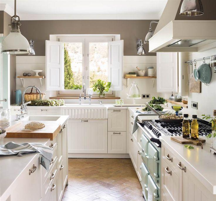 Resultado de imagen de salpicadero cocina verde menta for Muebles de cocina de 70 o 90