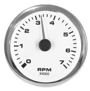 Teleflex Premier Series White 3 Diesel Tachometer 62548p Tachometer Curved Glass Alternator