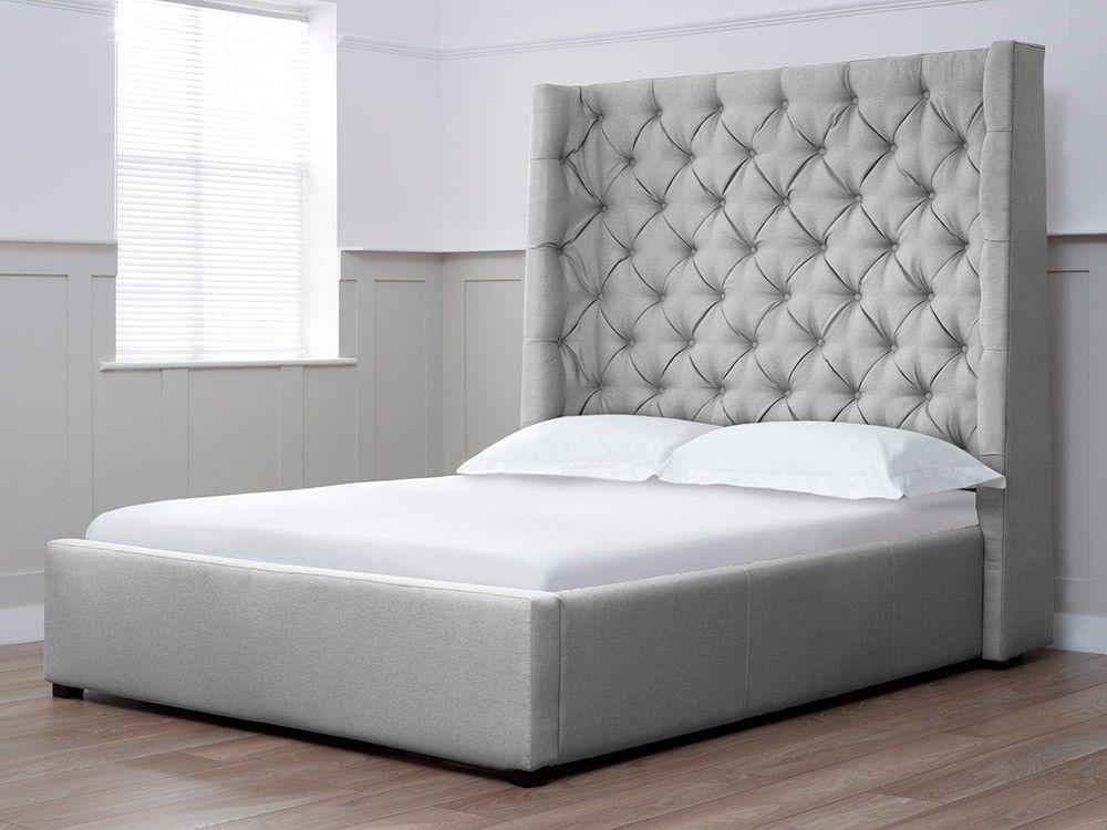 Grau Kopfteil Doppelbett Schlafzimmer Großes bett