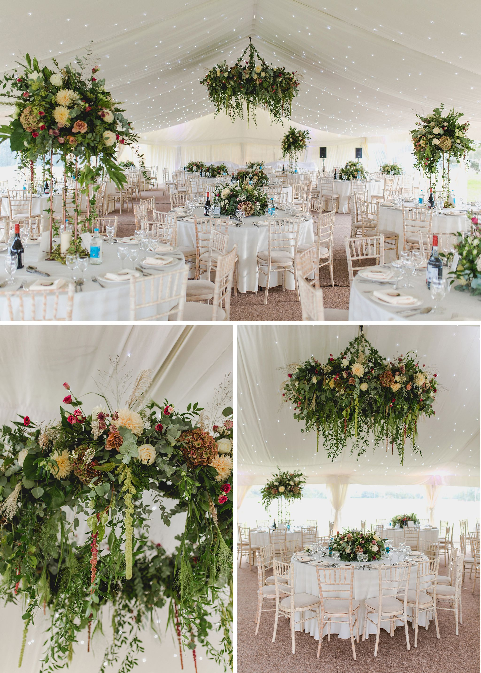 Wedding Marquee Decor Inspiration Floral Ring Marquee Wedding