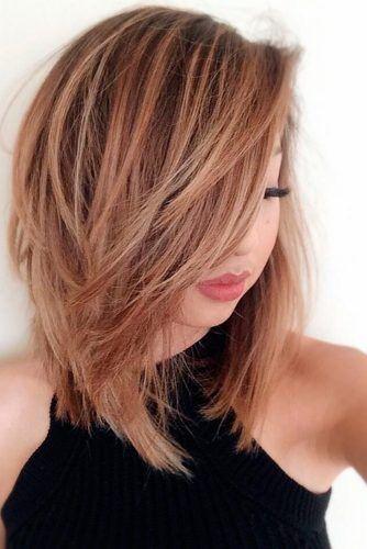 18 Medium Length Hairstyles For Thick Hair Longer Bob Hairstyles