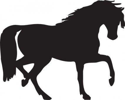 Horse Silhouette clip art Free vector in Open office drawing svg ...