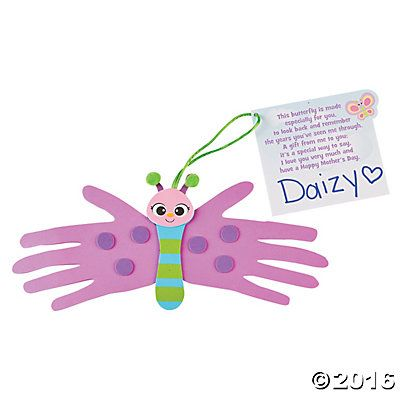 Mother S Day Handprint Butterfly Craft Kit Life Cycle Of