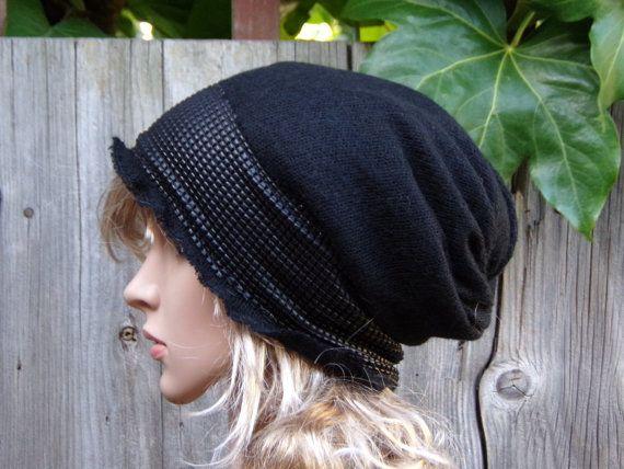ad014f9b6de20 BLACK TAM WOMEN Ladies Beanie Hat Autumn Winter Fashion Roll Mohair  knitwear Fashion Beret Roll Modern Cozy Cap Earthy Slouchy Boho Hippie