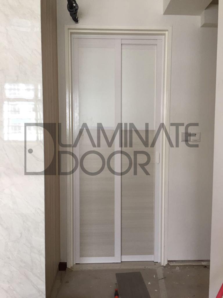 Slide And Swing Toilet Door Install For Hdb Bto Free To Customize Get 1 Door At 350 2 Door At 598 Call 85 Laminate Doors Toilet Door Bathroom Inspiration