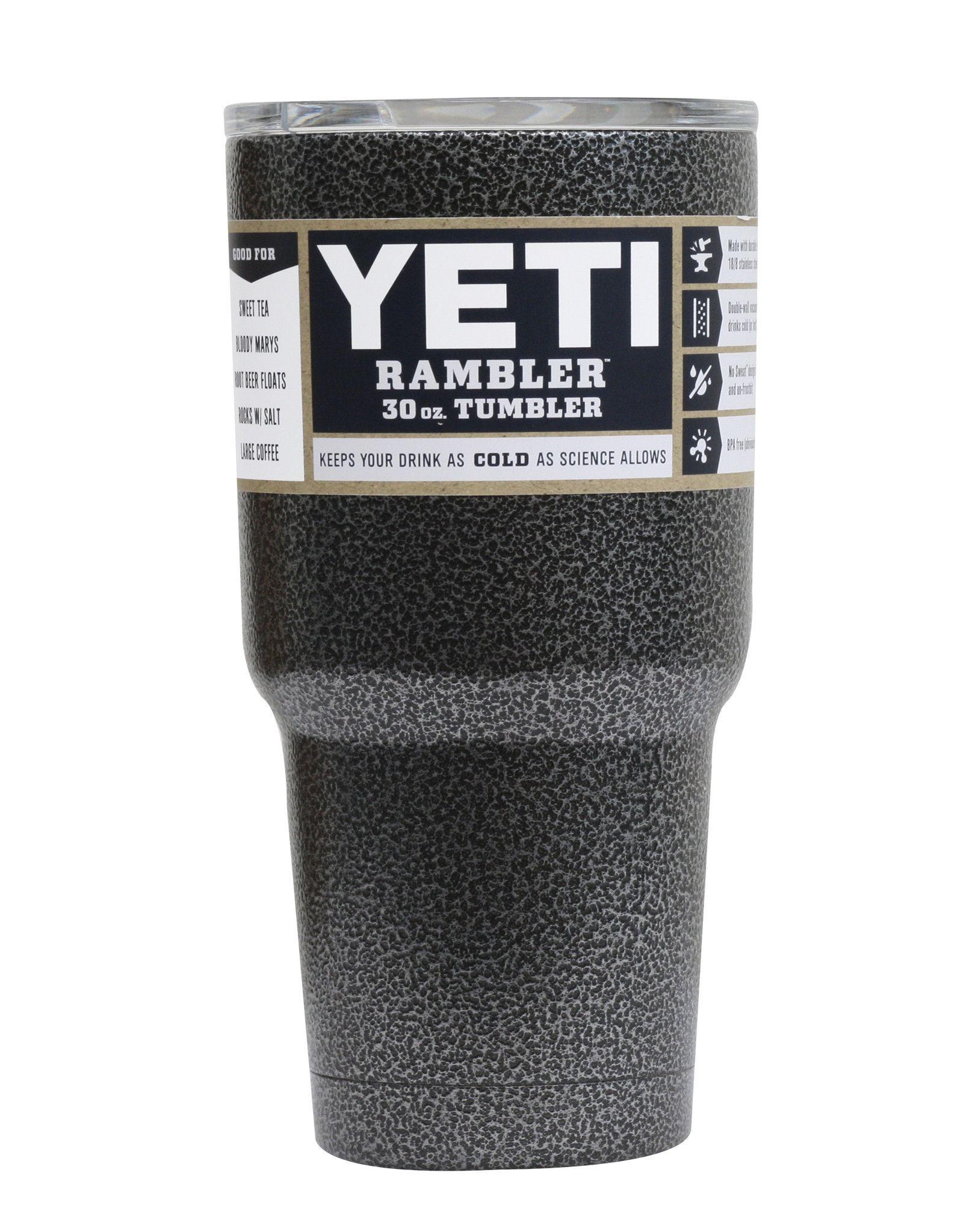 Black Vein Yeti 30 oz Rambler Tumbler Yeti 30 oz rambler