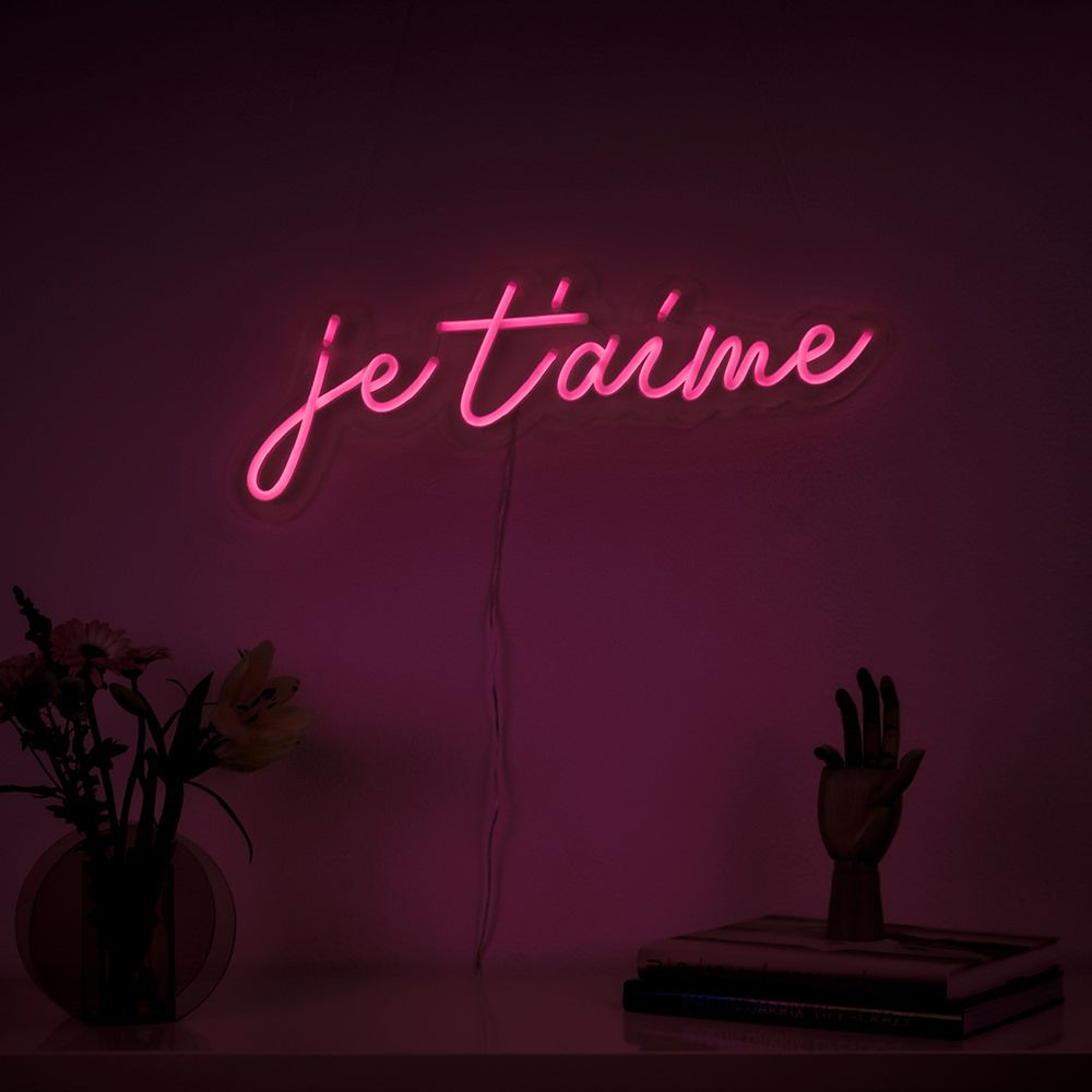 Je T Aime Led Neon Sign In 2020 Verlichting