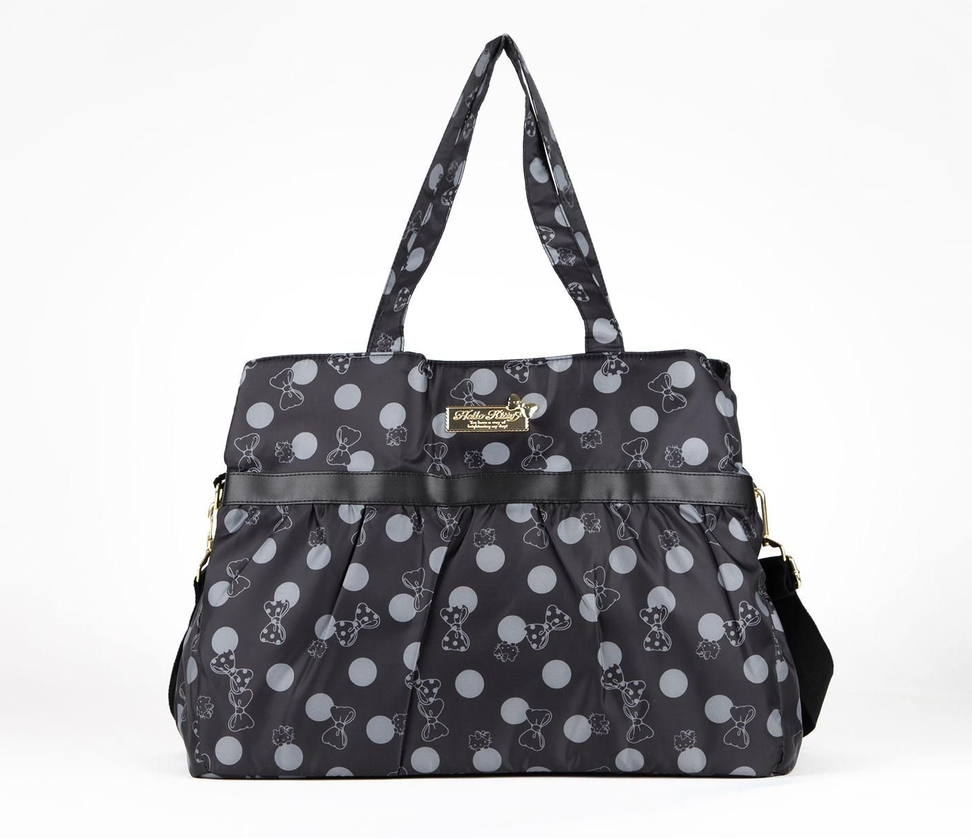 Hello Kitty Diaper Bag Black Polka Dot
